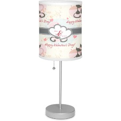 "Cats in Love 7"" Drum Lamp with Shade (Personalized)"