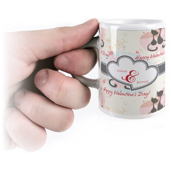 Cats in Love Espresso Cups (Personalized)