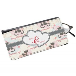 Cats in Love Genuine Leather Eyeglass Case (Personalized)