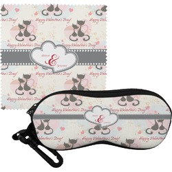 Cats in Love Eyeglass Case & Cloth (Personalized)