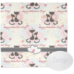 Cats in Love Wash Cloth (Personalized)
