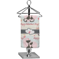 Cats in Love Finger Tip Towel - Full Print (Personalized)