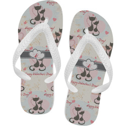 Cats in Love Flip Flops (Personalized)
