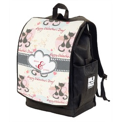 Cats in Love Backpack w/ Front Flap  (Personalized)