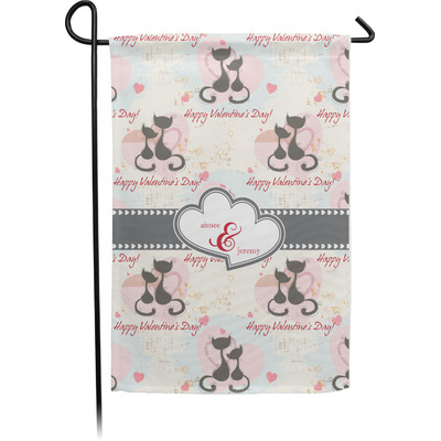 Cats in Love Garden Flag - Single or Double Sided (Personalized)