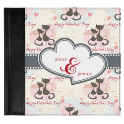 Cats in Love Genuine Leather Baby Memory Book (Personalized)