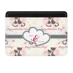 Cats in Love Genuine Leather Front Pocket Wallet (Personalized)