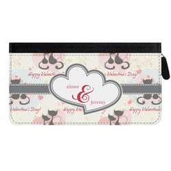 Cats in Love Genuine Leather Ladies Zippered Wallet (Personalized)
