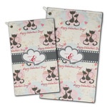 Cats in Love Golf Towel - Full Print w/ Couple's Names