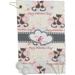 Cats in Love Golf Towel - Full Print (Personalized)