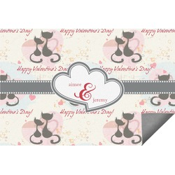 Cats in Love Indoor / Outdoor Rug (Personalized)