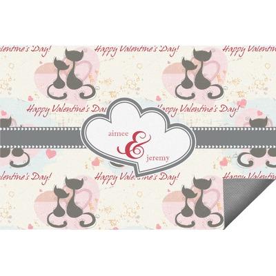 Cats in Love Indoor / Outdoor Rug (Personalized)
