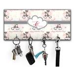 Cats in Love Key Hanger w/ 4 Hooks w/ Couple's Names