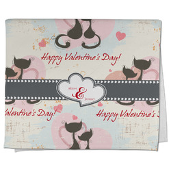 Cats in Love Kitchen Towel - Full Print (Personalized)