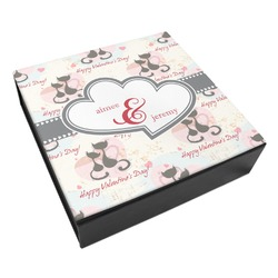 Cats in Love Leatherette Keepsake Box - 3 Sizes (Personalized)