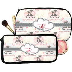 Cats in Love Makeup / Cosmetic Bag (Personalized)