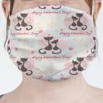 Cats in Love Face Mask Cover (Personalized)