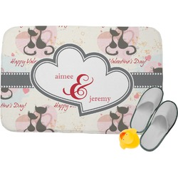 Cats in Love Memory Foam Bath Mat (Personalized)