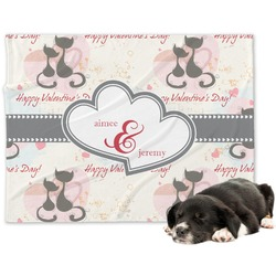 Cats in Love Dog Blanket (Personalized)