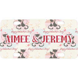 Cats in Love Mini / Bicycle License Plate (Personalized)