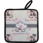 Cats in Love Pot Holder w/ Couple's Names