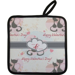 Cats in Love Pot Holder (Personalized)