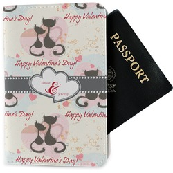 Cats in Love Passport Holder - Fabric (Personalized)