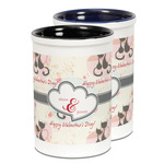 Cats in Love Ceramic Pencil Holder - Large