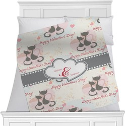 Cats in Love Minky Blanket (Personalized)