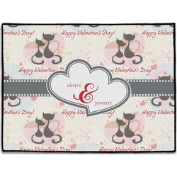 Cats in Love Door Mat (Personalized)