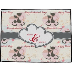 Cats in Love Door Mat (Personalized)