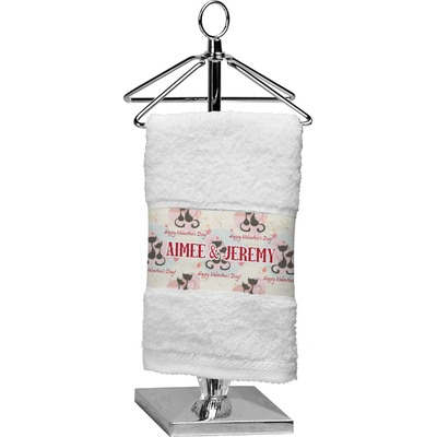 Cats in Love Cotton Finger Tip Towel (Personalized)