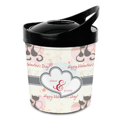 Cats in Love Plastic Ice Bucket (Personalized)