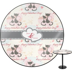 Cats in Love Round Table (Personalized)