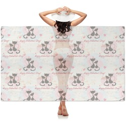 Cats in Love Sheer Sarong (Personalized)