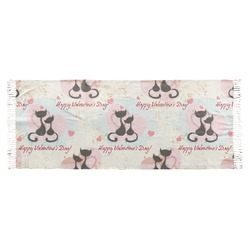 Cats in Love Faux Pashmina Scarf (Personalized)