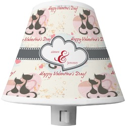 Cats in Love Shade Night Light (Personalized)