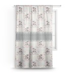 Cats in Love Sheer Curtains (Personalized)