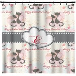 Cats in Love Shower Curtain (Personalized)