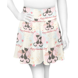 Cats in Love Skater Skirt (Personalized)