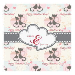 Cats in Love Square Decal (Personalized)