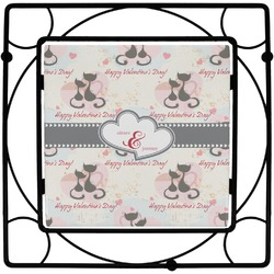 Cats in Love Square Trivet (Personalized)