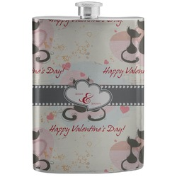 Cats in Love Stainless Steel Flask (Personalized)