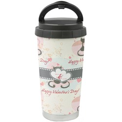 Cats in Love Stainless Steel Coffee Tumbler (Personalized)