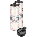 Cats in Love Stainless Steel Skinny Tumbler (Personalized)