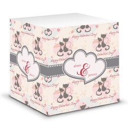 Cats in Love Sticky Note Cube (Personalized)