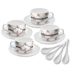 Cats in Love Tea Cup - Set of 4 (Personalized)