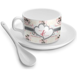 Cats in Love Tea Cup - Single (Personalized)