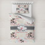 Cats in Love Toddler Bedding w/ Couple's Names