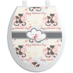 Cats in Love Toilet Seat Decal (Personalized)